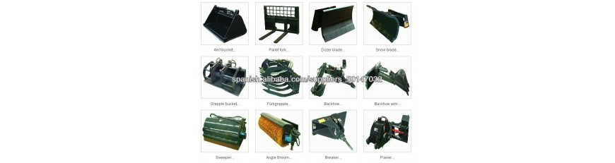 Attachments - accessories machinery