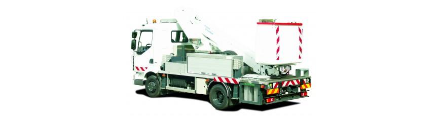 Plataforma sobre camión -chasis