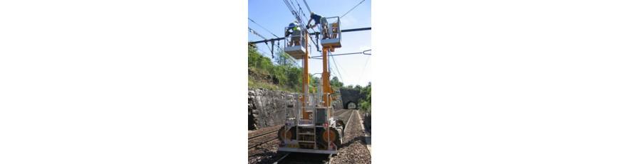 Platform for overhead lines